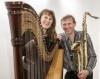 Harfe mit Sax: Monika Stadler und Sigi Finkel